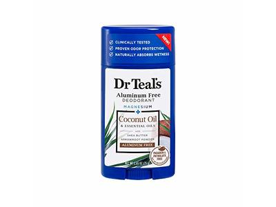 Dr Teal's Aluminum Free Deodorant, Coconut Oil & Essential Oil with Shea Butter, 2.65 oz