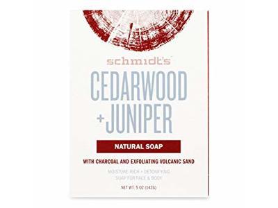 Schmidt's Deodorant Cedarwood Juniper Bar Soap, 5 oz