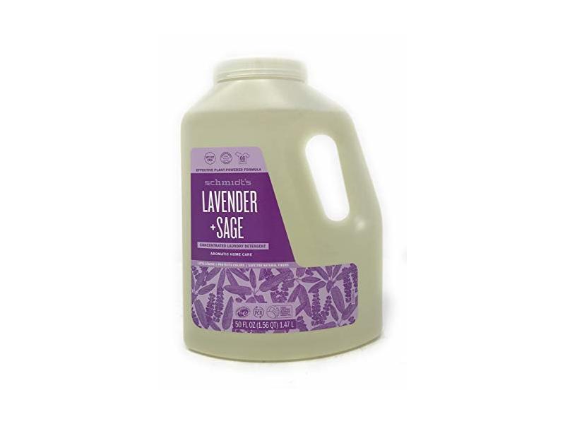 Schmidt's Deodorant, Laundry Detergent Lavender Sage, 50 Ounce