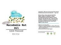 Nature Drop's 100% Pure Cold Pressed Organic Virgin / Macadamia Nut Oil - Image 3