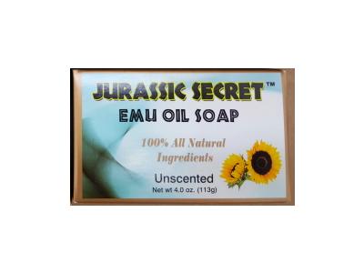 Jurassic Secret Emu Oil Bar Soap, Unscented, 4 oz