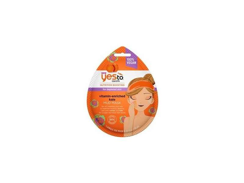 Yes To Carrots Vitamin-Enriched Kale Mud Mask - Single Use