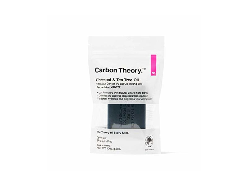 Carbon Theory Facial Cleansing Bar, Charcoal & Tea Tree Oil, 3.5 oz/100 g