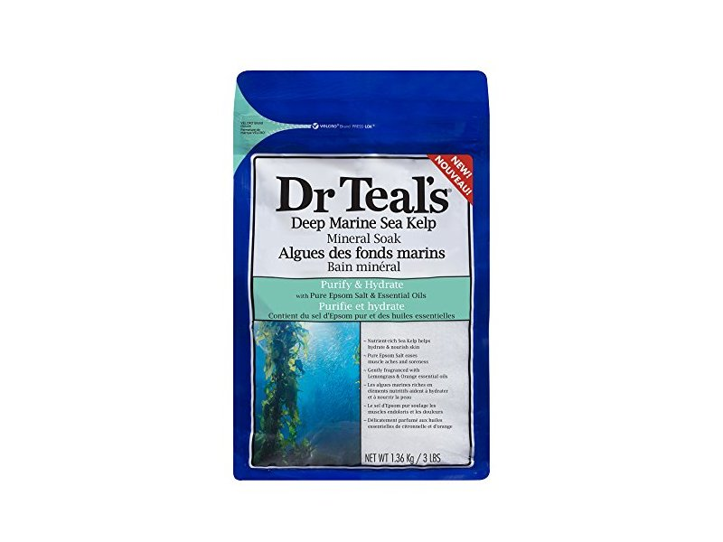 Dr Teal's Deep Marine Sea Mineral Soak, Purify & Hydrate, 3 lbs