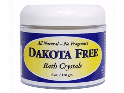 Dakota Free Fragrance-Free Bath Crystals, 6 oz