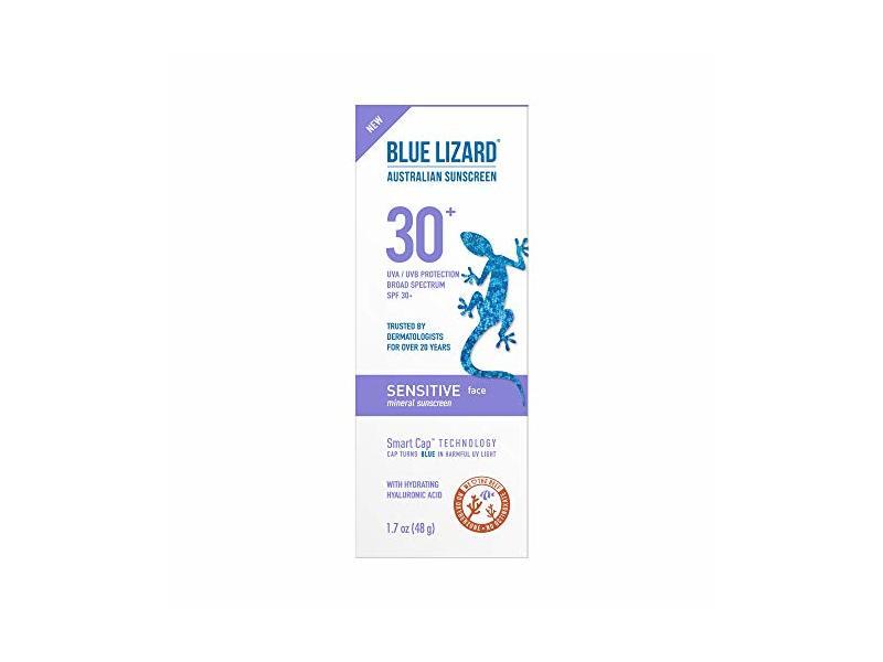 Blue Lizard Australian Sensitive Face Mineral Sunscreen, SPF 30+, 1.7 fl oz