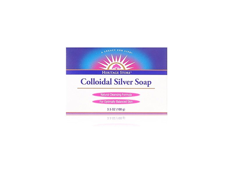 Heritage Store Colloidal Silver Soap, 3.5 oz