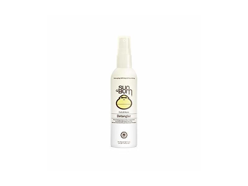 Sun Bum Curls & Waves Detangler Spray Leave in Hair Treatment - Detangling Spray, 4 fl oz