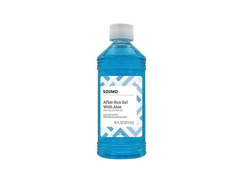 Solimo After Sun Gel with Aloe, Lidocaine and Menthol, 16 Fluid Ounce