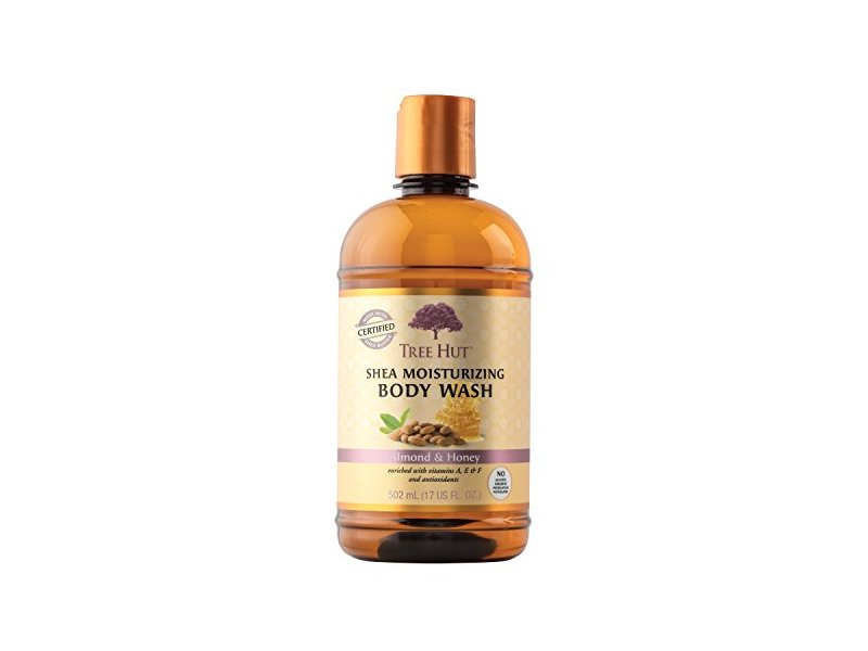 Tree Hut Shea Moisturizing Body Wash, Almond and Honey, 17 Fluid Ounce