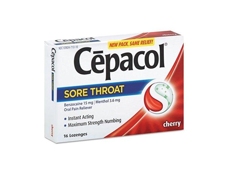 Cepacol, Sore Throat, Maximun Numbing, Pain Relief, Cherry, 16 Lozenges