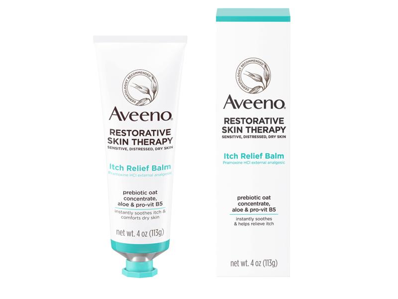 Aveeno Restorative Skin Therapy Itch Relief Body Balm, 4 oz