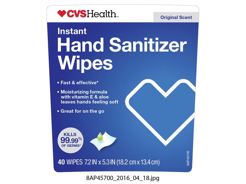 CVS Health Instant Hand Sanitizer Wipes, 40 count