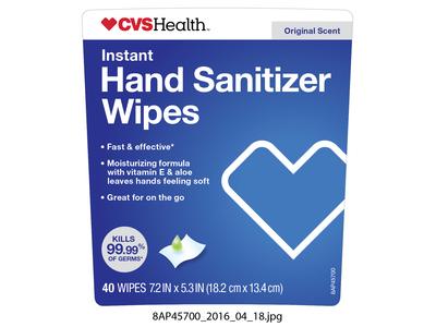CVS Health Instant Hand Sanitizer Wipes, 40 count - Image 1