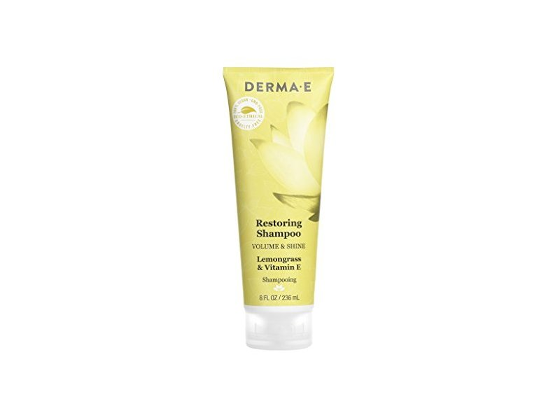 Derma E Volume & Shine Restoring Shampoo, Lemongrass & Vitamin E, 8 Fluid Ounce