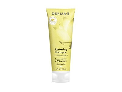 Derma E Volume & Shine Restoring Shampoo, Lemongrass & Vitamin E, 8 Fluid Ounce