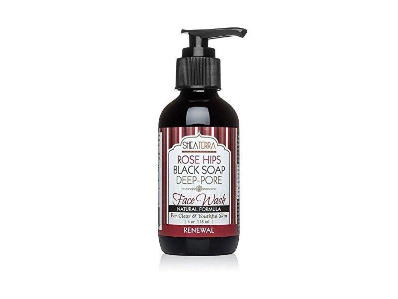 Shea Terra Organics Rose Hips Black Soap Deep Pore Facial Wash