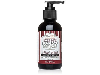 Shea Terra Organics Rose Hips Black Soap Deep Pore Facial Wash
