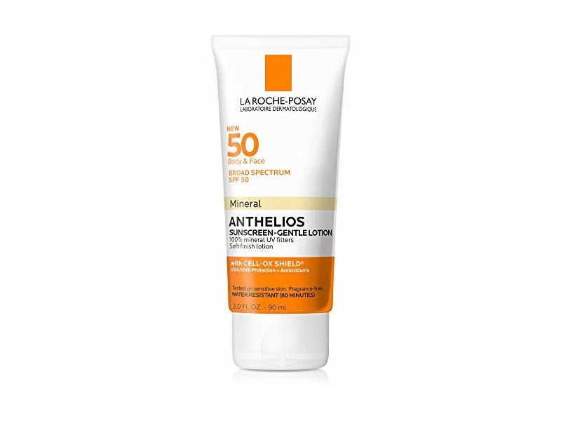 La Roche-Posay Anthelios Mineral Sunscreen SPF 50, Gentle Lotion, 3 Fl. Oz.