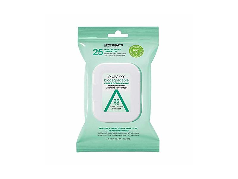 Almay Biodegradable Clear Complexion Makeup Remover Towelettes, 25 Wipes