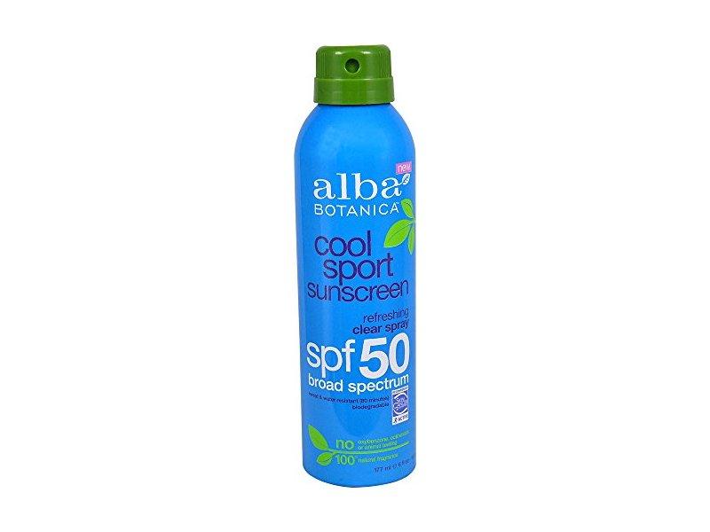 Alba Botanica SPF 50 Cool Sport Sunscreen Spray, 6 Fl oz
