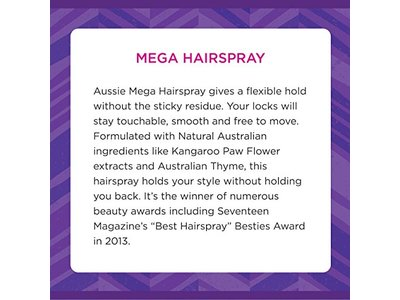 Aussie Mega Aerosol Hairspray 17 fl oz - Image 4