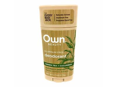 OWN Aluminum Free Deodorant Green Tea + Cucumber, 2.7 OZ