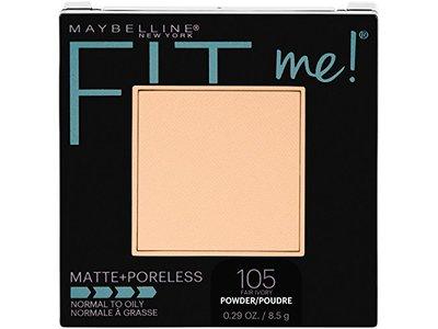 Maybelline Fit Me! Matte + Poreless Foundation Powder, 105 Fair Ivory