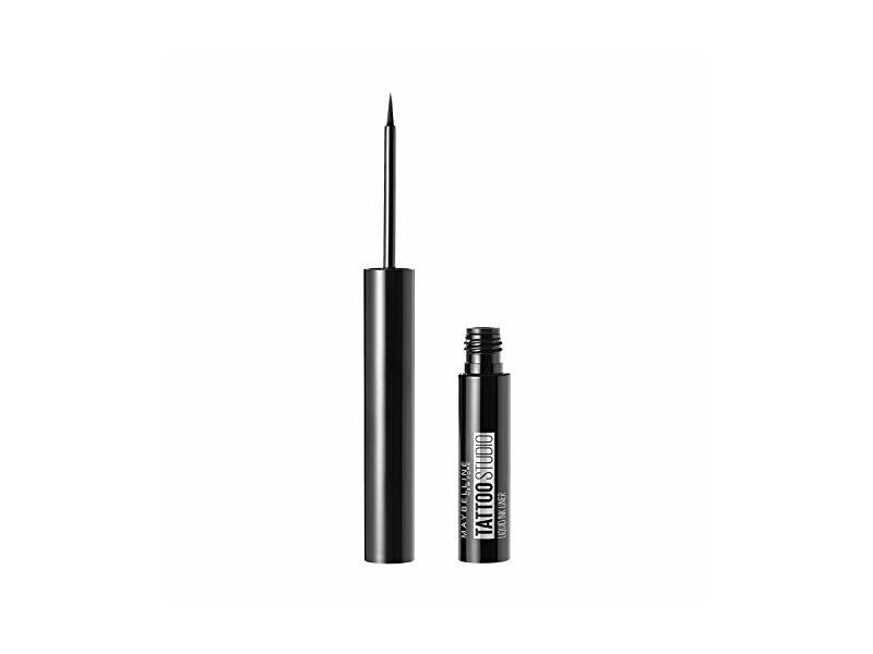 Maybelline New York TattooStudio Liquid Ink Eyeliner, Ink Black, 0.08 fl oz