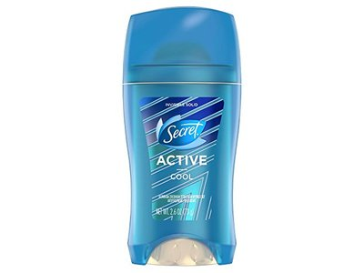 Secret Active Invisible Solid Antiperspirant and Deodorant, Cool, 2.6 oz