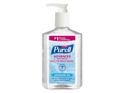 Purell Advanced Hand Sanitizer Gel With Pump, Original, 8 fl oz