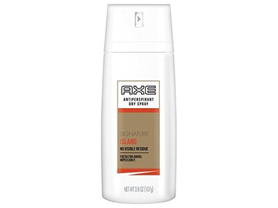 AXE White Label Dry Spray Antiperspirant for Men, Signature Island, 3.8 Ounce