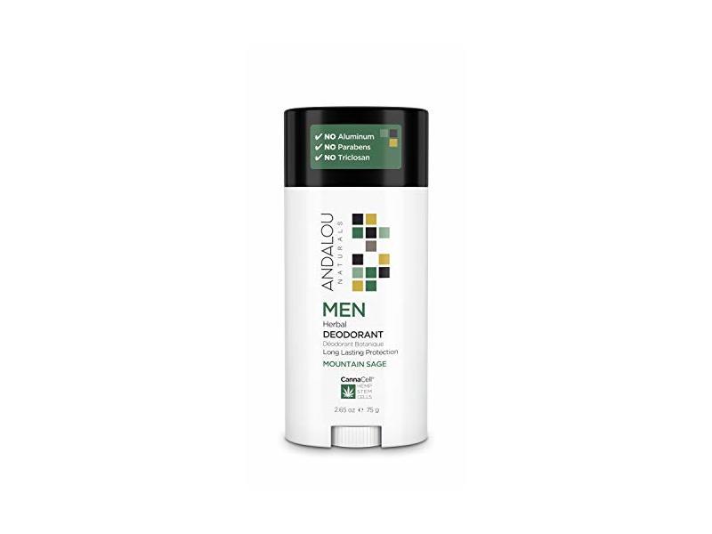 Andalou Naturals Men Herbal Deodorant, 3.25 Ounce