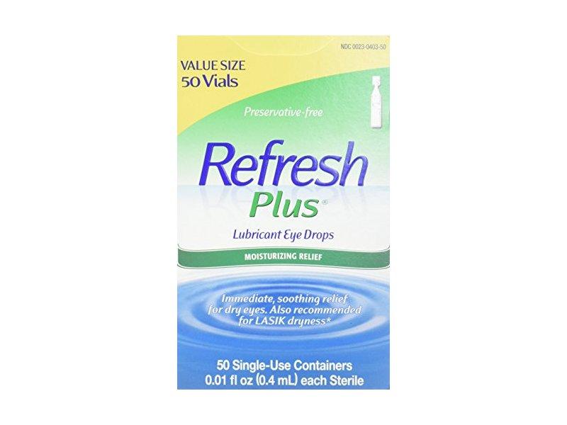 Refresh Plus Lubricant Eye Drops, 0.01 fl oz (0.4 mL)