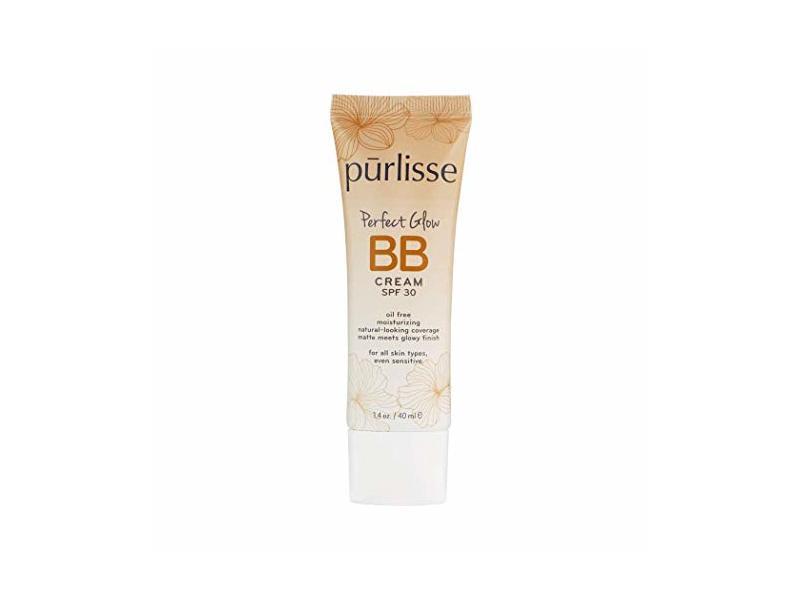 purlisse BB Tinted Moisturizer Cream SPF 30 - BB Cream for All Skin Types 1.4 Ounce (MEDIUM)