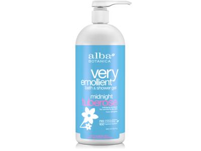 Alba Botanica Very Emollient Bath & Shower Gel, Midnight Tuberose