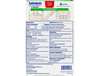 Salonpas Pain Relief Patch Large, 6 Patches - Image 3