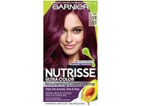 Garnier Nutrisse Ultra Color Nourishing Hair Color Creme, V2 Spiced Plum Dark Intense Violet - Image 2