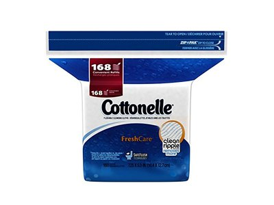 Cottonelle Fresh Care Flushable Moist Wipes Refill, 168ct