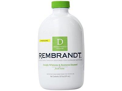 Rembrandt Deeply White Whitening Mouthwash with Fluoride, Fresh Mint, 16 fl oz