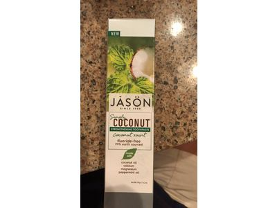 JASON Natural Products Simply Coconut Strengthening Toothpaste, Coconut Mint, 4.2 oz. - Image 5