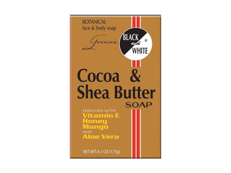 Black and White Cocoa & Shea Butter Soap, 6.1 oz