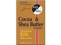 Black and White Cocoa & Shea Butter Soap, 6.1 oz - Image 2