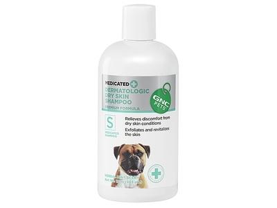 GNC Pets Dermatologic Dry Skin Medicated Shampoo, Herbal Mint Scent, 17 fl oz