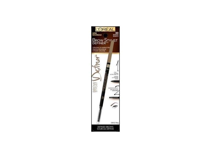 L'Oreal Paris Cosmetics Stylist Definer Brow Liner, Brunette, 0.003 Ounce