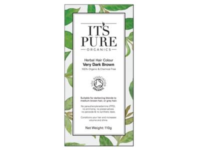 It's Pure Organics Herbal Hair Colour, Very Dark Brown, 110 g