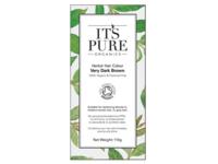 It's Pure Organics Herbal Hair Colour, Very Dark Brown, 110 g - Image 2