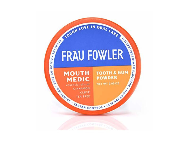 Frau Fowler Mouth Medic Tooth & Gum Powder, Cinnamon Clove Tea Tree, 2.03 oz