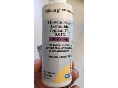 Fluocinolone Acetonide Topical Oil 0.01% (RX), 4 Fl. Oz, Rising Pharmaceuticals