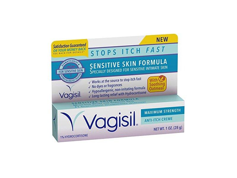 Vagisil Maximum Strength Anti-Itch Creme, Sensitive Skin Formula, 1 Ounce